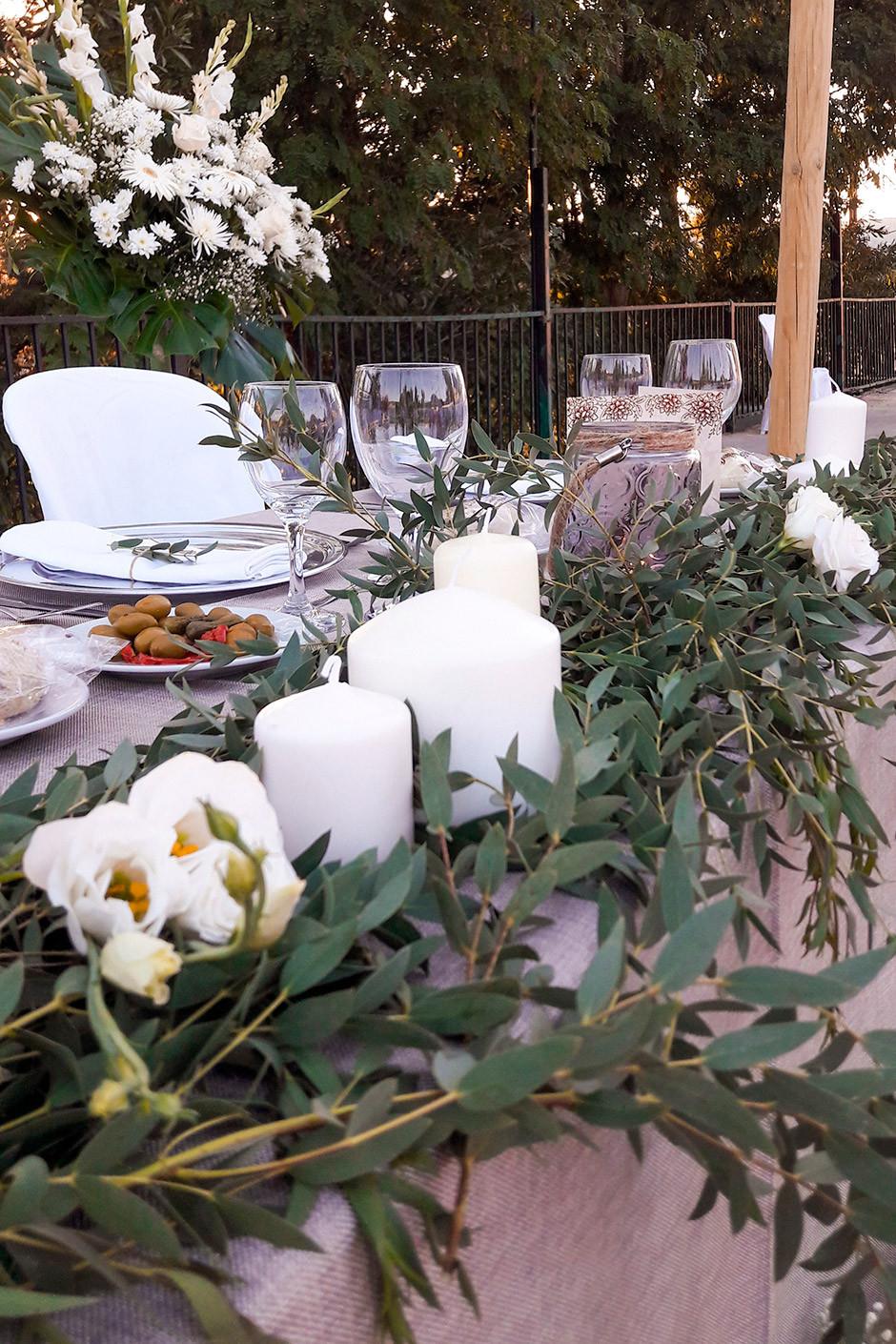 decoracion mesa presidencial boda eucalipto
