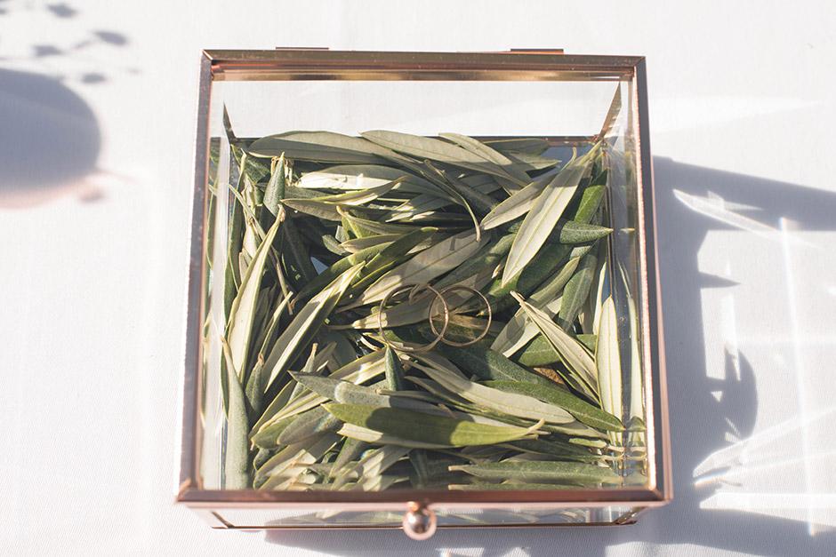 porta alianzas caja cristal