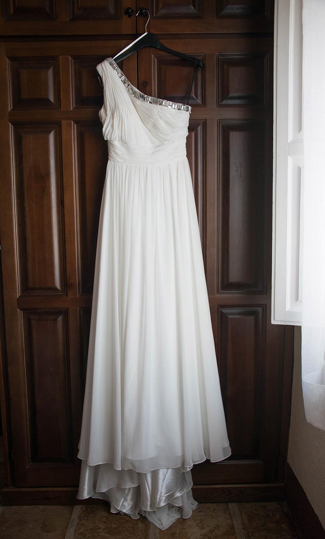 vestido novia corte griego