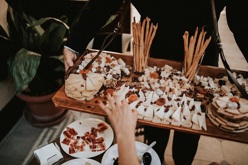 tabla quesos copa bienvenida boda