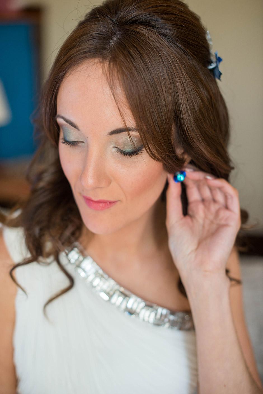 pendientes novia azules