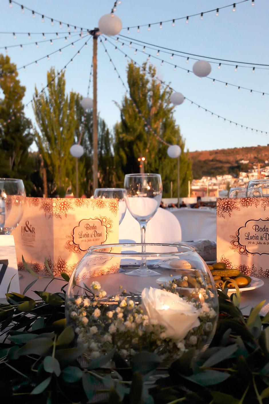 centro mesa boda pecera