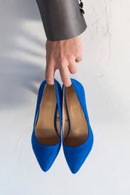 zapatos azules novia