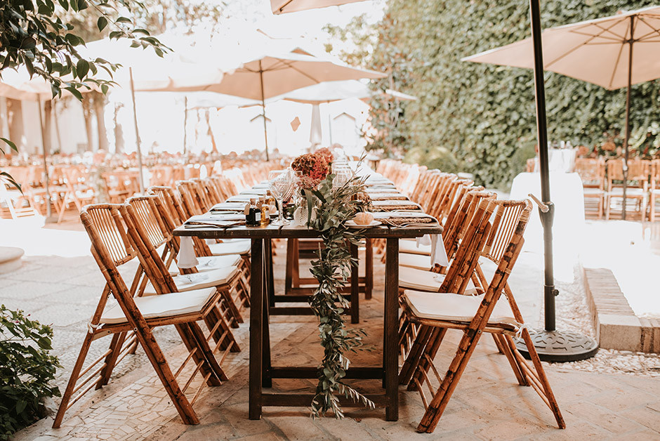 mesa rectangular boda