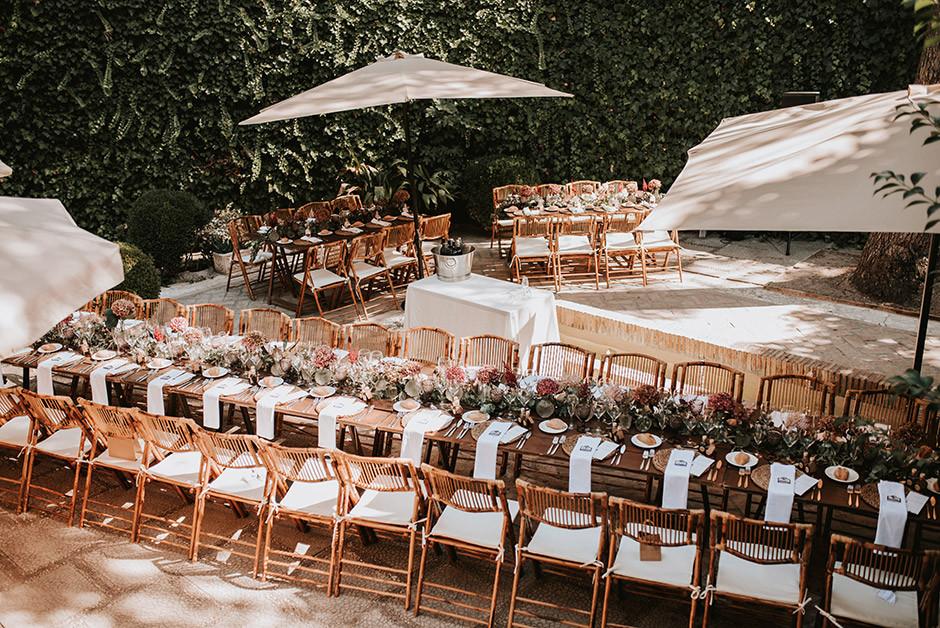 plano mesas rectangulares boda