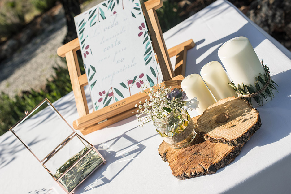 decoracion altar boda rustica