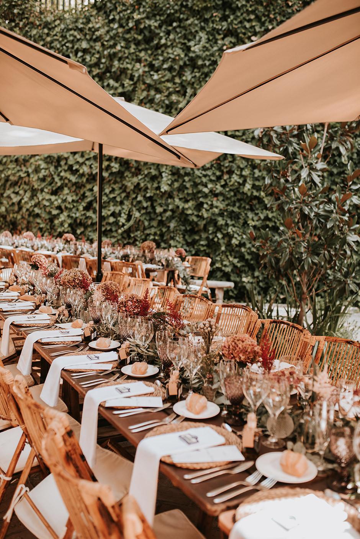 centro mesa boda hortensias