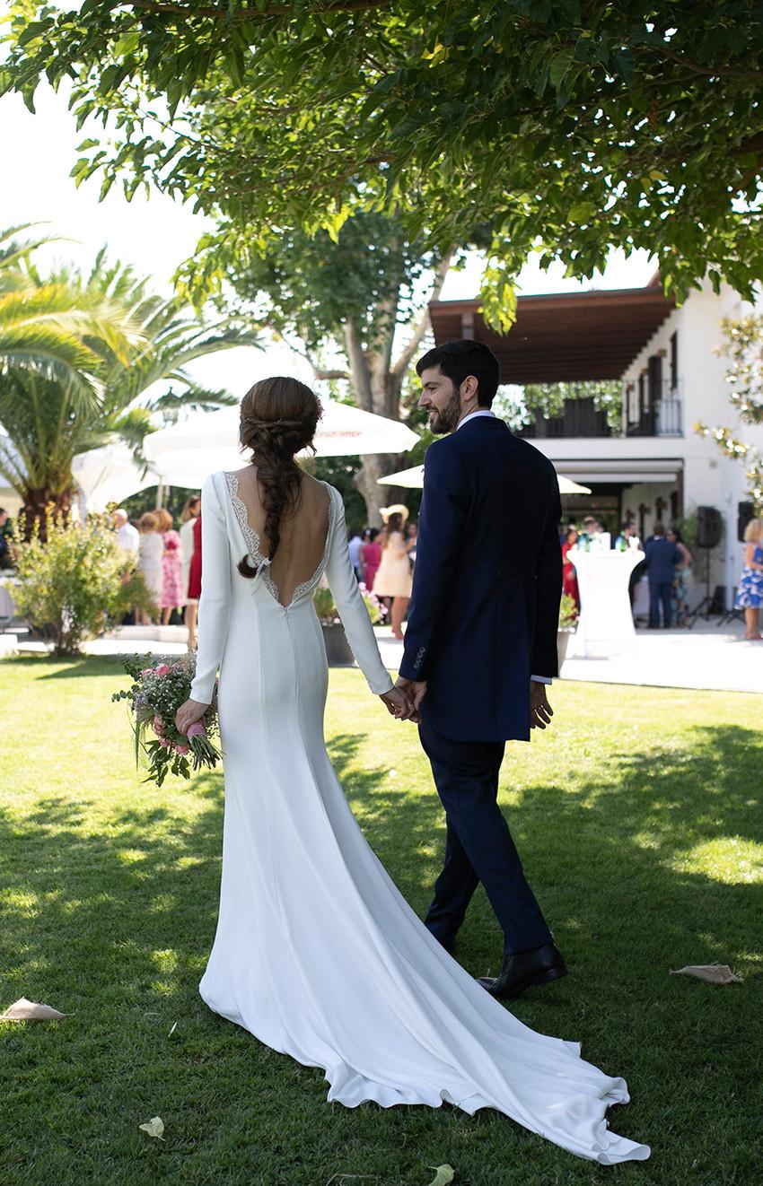 vestido novia elegante