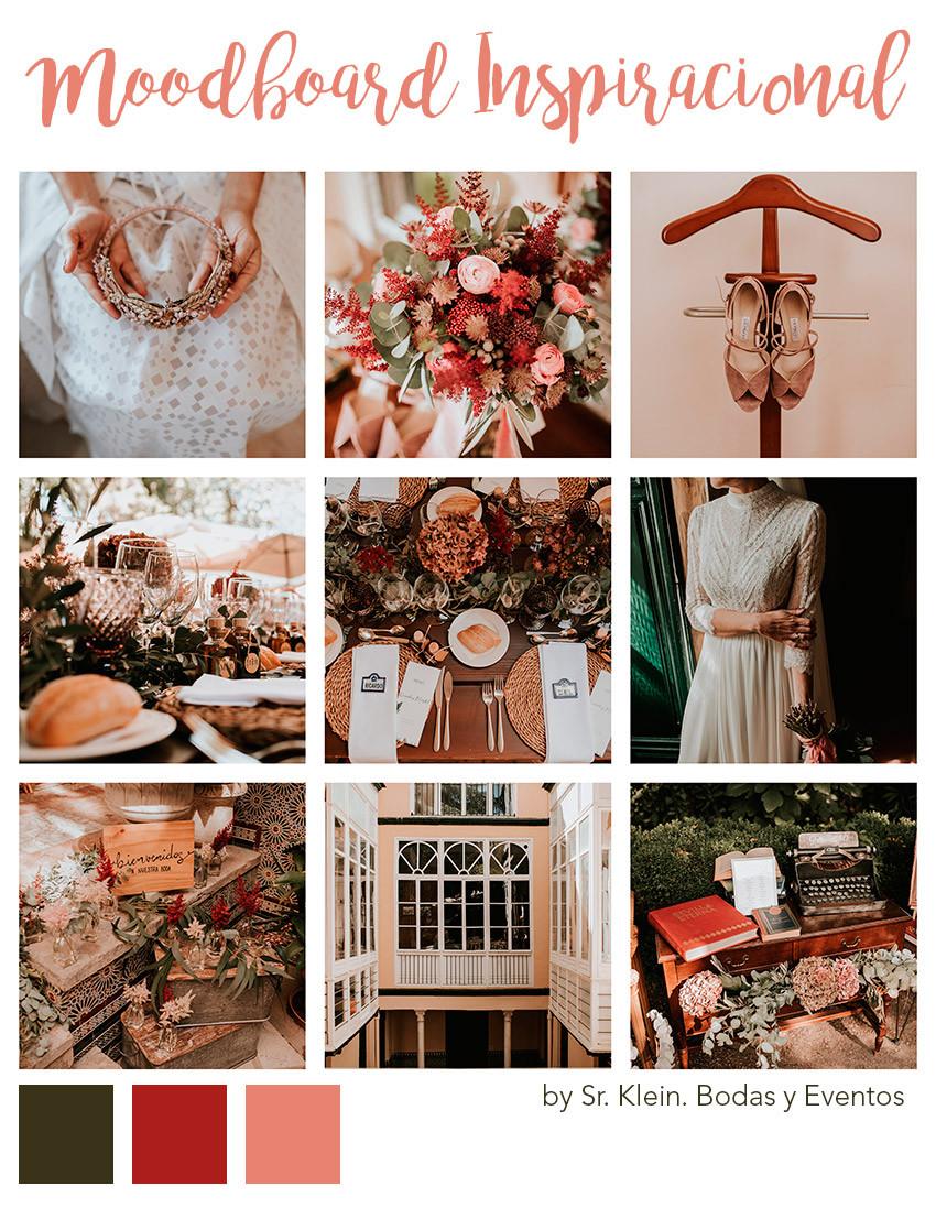tablero inspiración boda