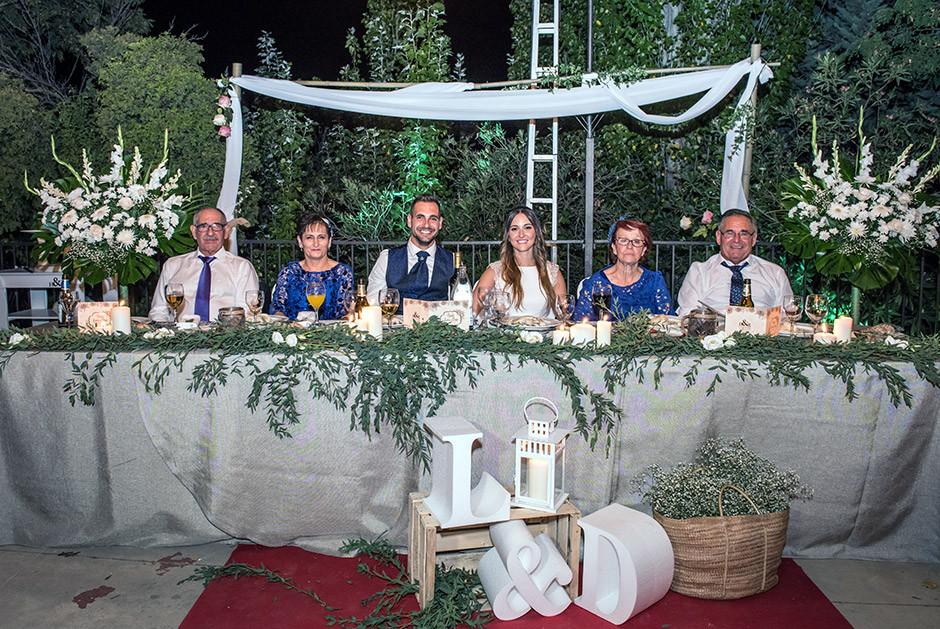 mesa presidencial boda
