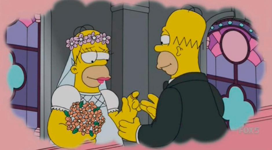 boda homer consigo mismo