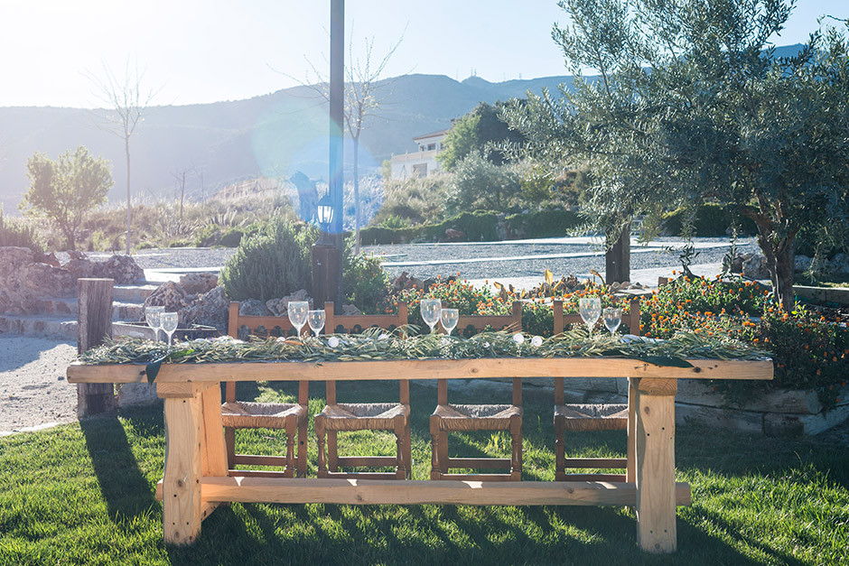 mesa presidencial boda madera rustica