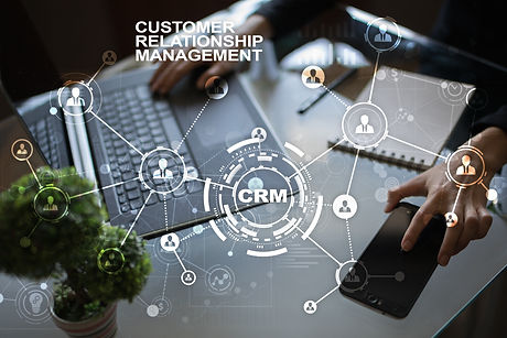 CRM. Customer relationship management co