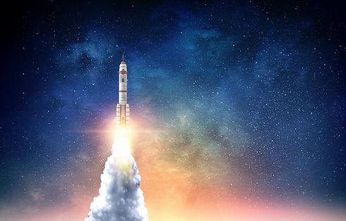 Rocket space ship . Mixed media.jpg