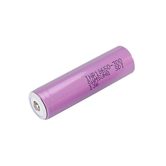 Samsung INR18650-30Q, 15 Amp, 3000mAh, Button Top