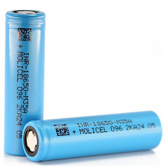 Molicel M35A 18650, 10 Amp, 3500mAh