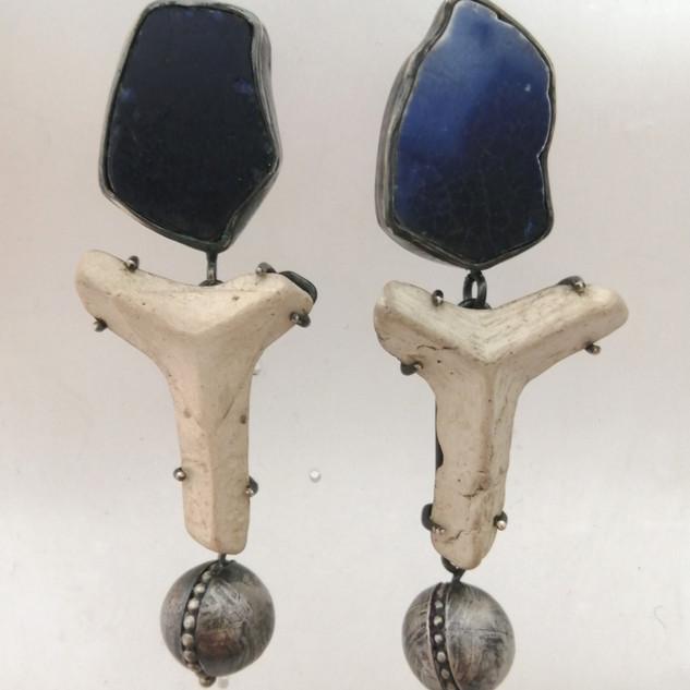 Large found Drop Earrings