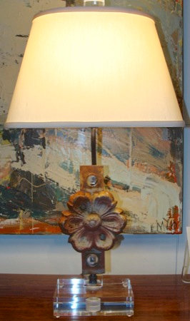 Metal Decorative Flower Lamp