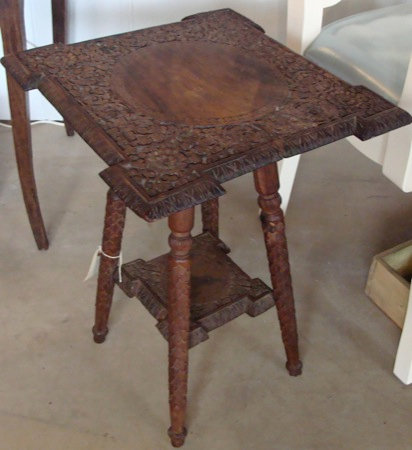 Small Vintage Carved Side Table.