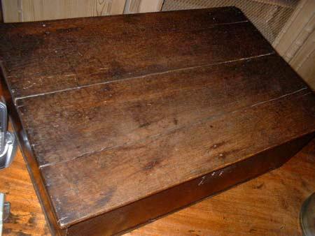 Antique Oak Bible Box