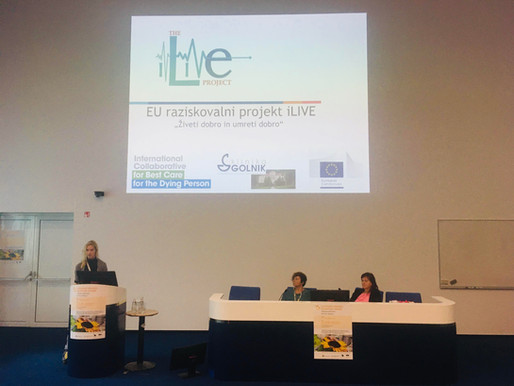 The iLIVE Project was presented at the 3rd Slovenian Congress of Palliative Care