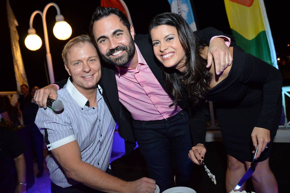 Miami Beach Gay Pride's Dave Cook, iHeart Radio's Enrique Santos, and NBC6 Roxane Vargas