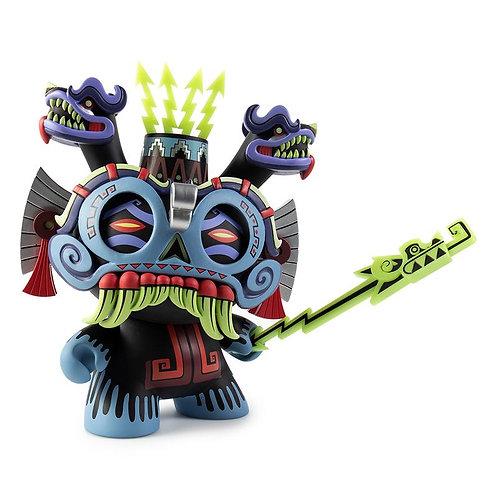 """Kidrobot – Tlaloc (Blue) 8"""" Dunny by Jesse Hernandez"""