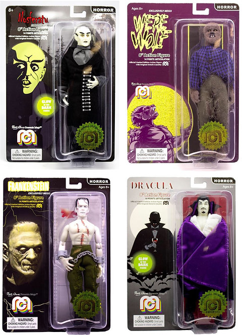 "Mego – Horror 8"" Clothed Action Figure Set of 4 (2019 Variants)"