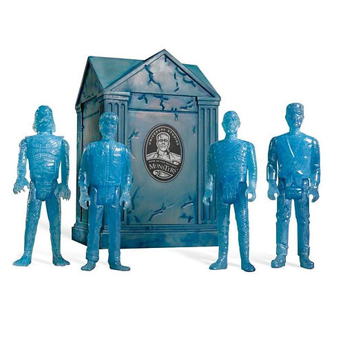 "Super7 – Universal Monsters Crypt 3.75"" ReAction Figure 4-Pack (Blue SDCC 2015)"