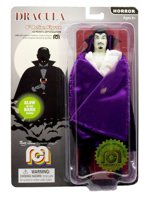 """Mego – Purple Dracula (Glow-in-the-Dark) 8"""" Clothed Action Figure"""