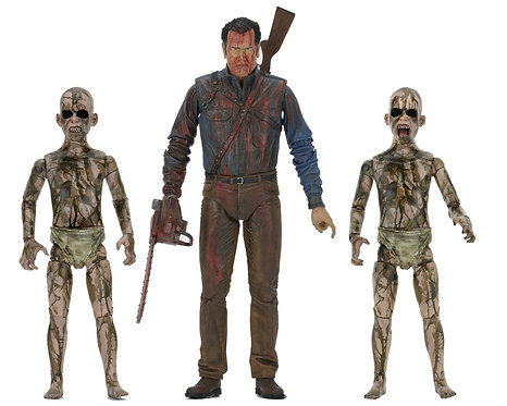 """NECA AVED - Bloody Ash vs. Demon Spawn 7"""" Scale Action Figure 3-Pack"""