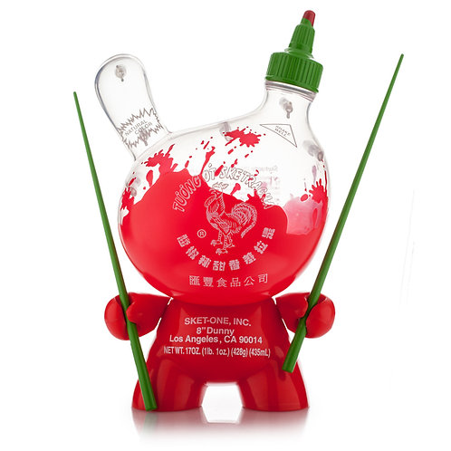 "Kidrobot – Sketracha Sriracha (Clear) 8"" Dunny by Sket One"