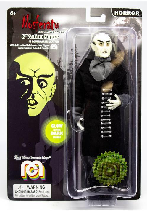 "Mego Nosferatu Count Orlok (Glow-in-the-Dark) 8"" Clothed Action Figure"