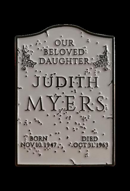 Halloween – Judith Myers Tombstone Enamel Pin