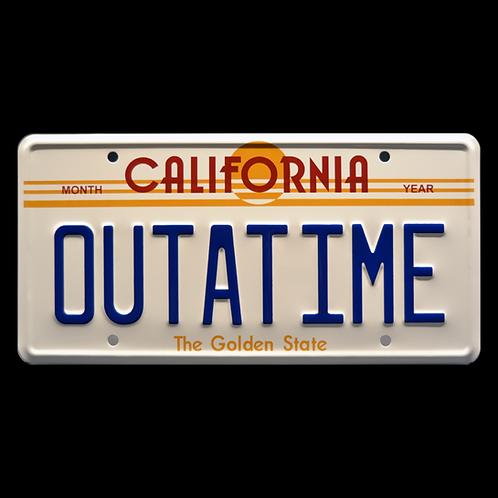 Back to the Future – DeLorean OUTATIME Metal Stamped Replica License Plate