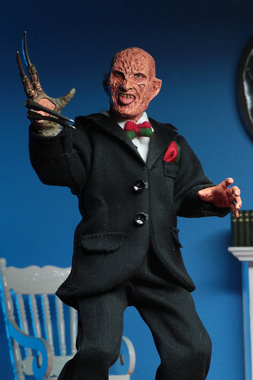 "NECA Nightmare on Elm Street Part 3 – Tuxedo Freddy 8"" Clothed Action Figure"