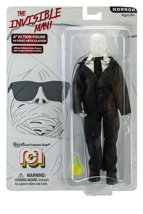 """Mego – The Invisible Man 8"""" Clothed Action Figure"""