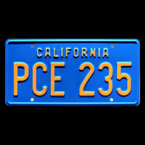 Stranger Things – Billy's Camaro PCE 235 Metal Stamped Replica License Plate