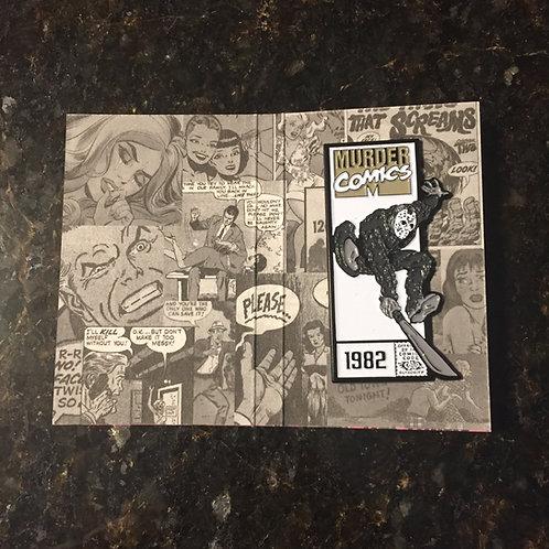 Murder Comics – Jason Voorhees (Black & White Variant) Enamel Pin