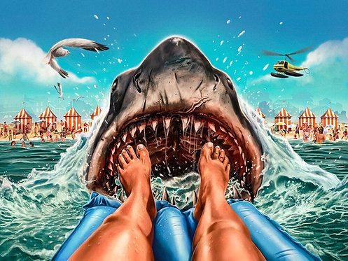 "Spook House Studios – Close the Beaches! Art Print (18"" x 24"")"