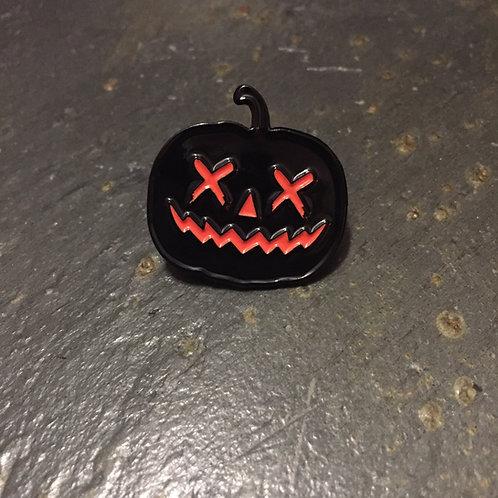 Black Halloween Jack O'Lantern Enamel Pin