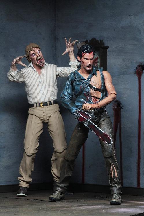 """NECA Evil Dead 2 – Hero Ash & Deadite Ed 7"""" Scale Action Figure Box Set"""