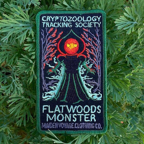Flatwoods Monster – Embroidered Cryptozoology Patch