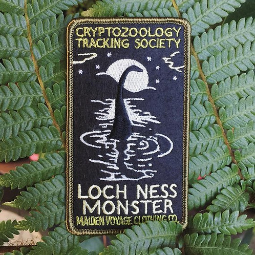 Loch Ness Monster – Embroidered Cryptozoology Patch (Glow in the Dark)