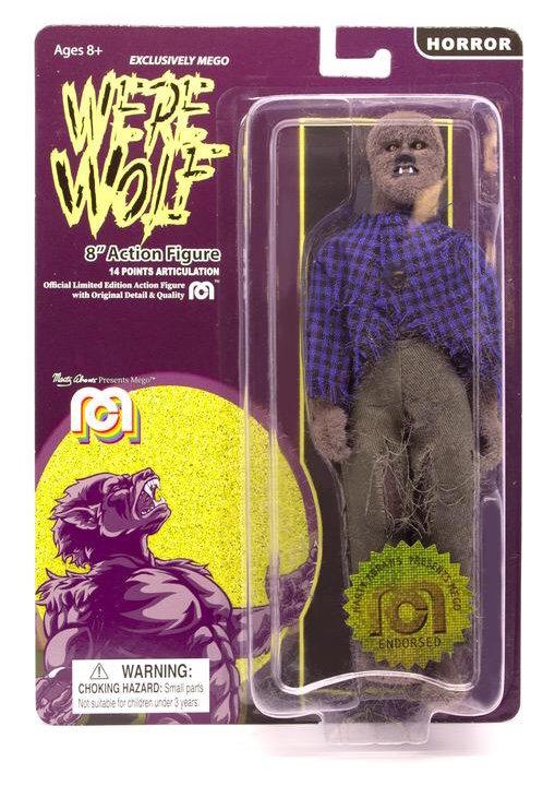 "Mego – Werewolf (Flocked Fur Body) 8"" Clothed Action Figure"