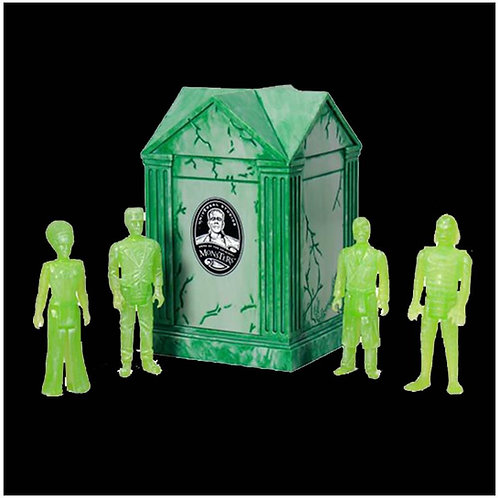 "Super7 – Universal Monsters Crypt 3.75"" ReAction Figure 4-Pack (Green NYCC 2015)"
