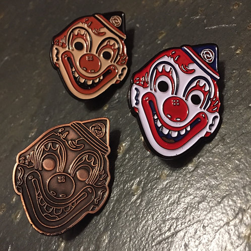 Rob Zombie's Michael Myers Clown Mask Enamel Pins