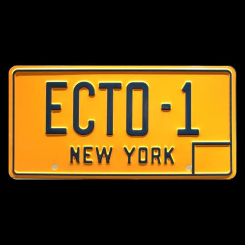 Ghostbusters – Cadillac Hearse ECTO-1 Metal Stamped Replica License Plate
