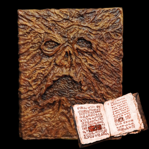 EVIL DEAD 2 – BOOK OF THE DEAD NECRONOMICON PROP WITH PRINTED PAGES