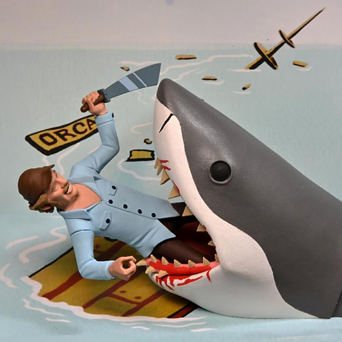 """NECA Toony Terrors – Jaws & Quint 6"""" Scale Action Figure 2-Pack"""